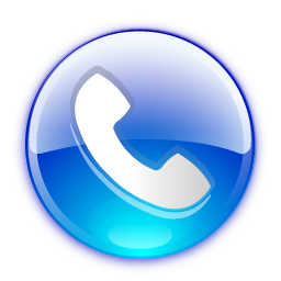 phone button blue 256x256